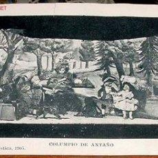 Postales: ANTIGUA POSTAL DE LA EXPOSICION ARTISTICA 1905 - CON MUÑECAS DE PORCELANA - COLUMPIO DE ANTAÑO - FOT. Lote 25700471