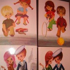 Postales: LOTE DE 4 POSTALES ANTIGUAS. Lote 27358139