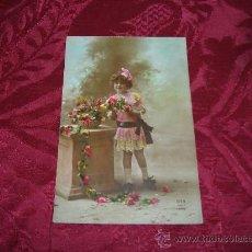 Postales: POSTAL NIÑA CON GIRNALDAS DE FLORES,DIX PARIS 1920. Lote 10176593