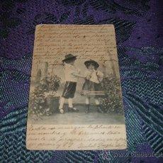 Postales: POSTAL NIÑOS,MATASELLOS BARCELONA 1908. Lote 11058841