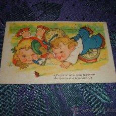 Postales: NIÑOS CAIDOS DE LA BICICLETA,EDICIONES GLORIA MILL-BENISI. Lote 11117114