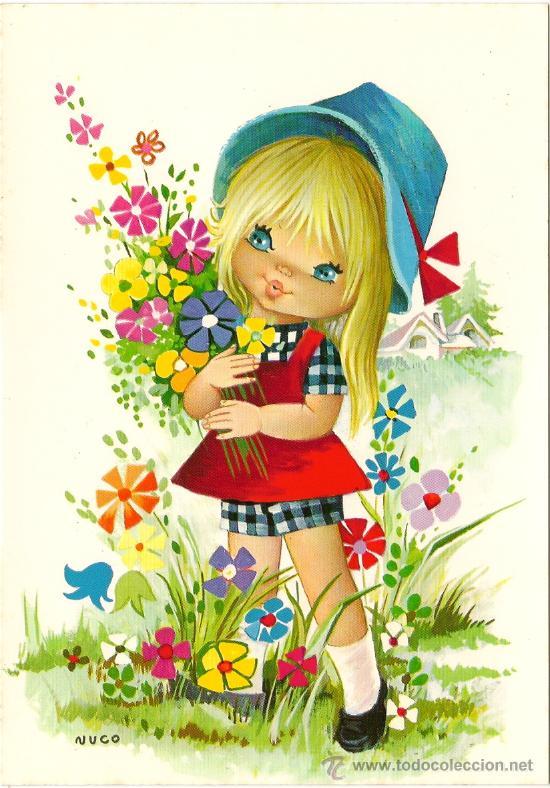 interesante postal preciosa nia con bonitas f  Comprar Postales