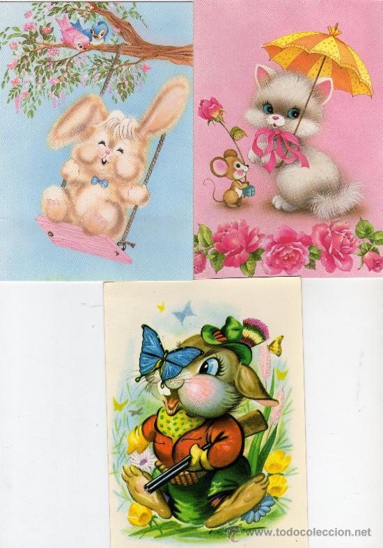 lote de tres postales infantiles-muy bonitas.ni - Comprar Postales ...