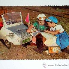 Postales: POSTAL TEMÁTICA INFANTIL CON VOISIN BISCUTER SAUQUILLO, BASOLI. ESCRITA POR DETRÁS. AÑO 1956.. Lote 15967647