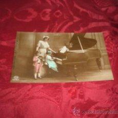 Postales: POSTAL FOTOGRAFICA COLOREADA NIÑO TOCANDO EL VIOLIN Y NIÑA TOCANDO EL PIANO,AMAG. Lote 13818836