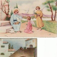 Postales: 2 TARJETAS POSTALES CON ANGELITOS.RASTRILLO PORTOBELLO-ARTICULOS DE COLECCION. Lote 13852335
