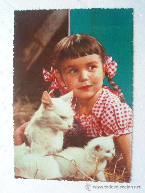 ANTIGUA POSTAL DE NIÑA DE LOS AÑOS 60-70 (Postales - Postales Temáticas - Niños)