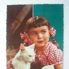 Postales: ANTIGUA POSTAL DE NIÑA DE LOS AÑOS 60-70. Lote 25840596