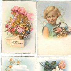Postales: 4 POSTALES INFANTILES O FELICITACION, AÑOS 50.. Lote 24036820