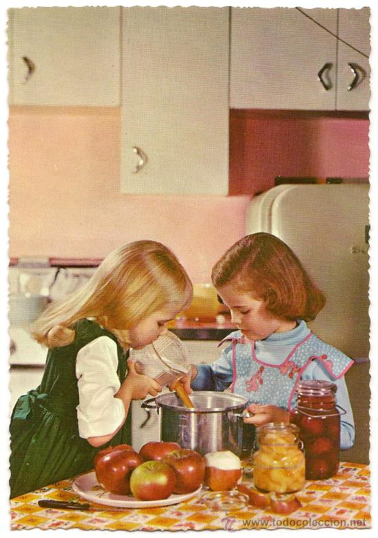 Bonita postal ni as cocinando editada en el a comprar - Nina cocinando ...