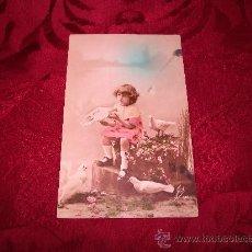 Postales: NIÑA CON PALOMAS,JOS. Lote 18232028