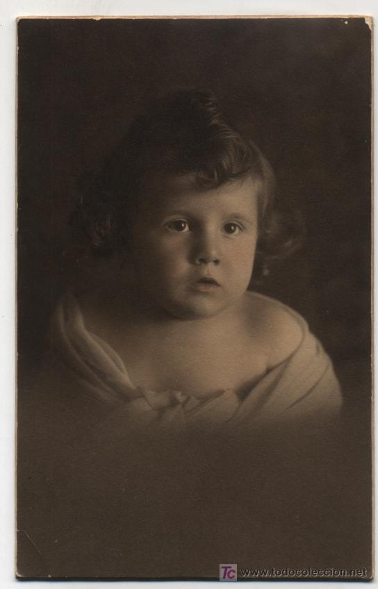 FOTO POSTAL. MONTANER FOTÓGRAFO - BARCELONA.PELAYO 44. (Postales - Postales Temáticas - Niños)
