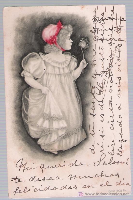POSTAL FRANCESA. FRANQUEADO Y FECHADO EN MADRID EN 1902. (Postales - Postales Temáticas - Niños)