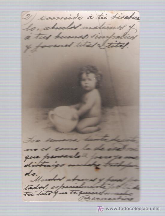 POSTAL ALEMANA. ANTERIOR A 1906. (Postales - Postales Temáticas - Niños)