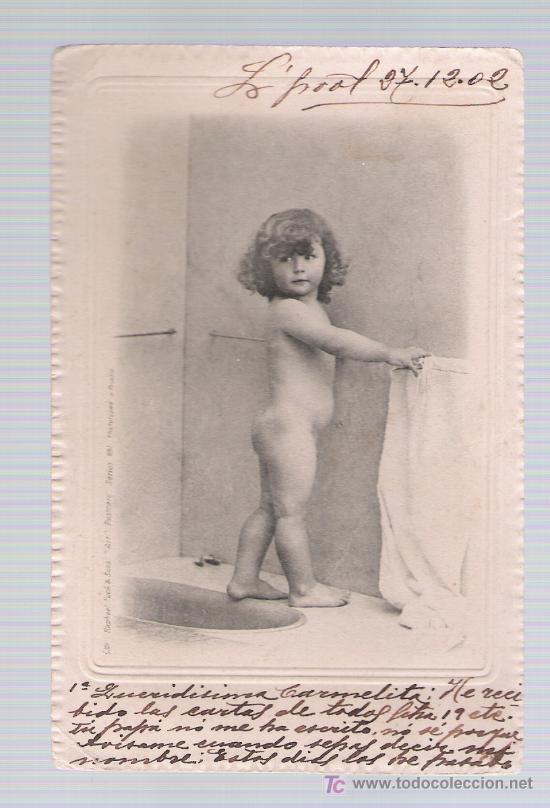 POSTAL INGLESA. FECHADO EN SEVILLA EN 1902. (Postales - Postales Temáticas - Niños)