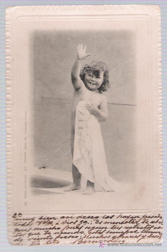 POSTAL INGLESA. ANTERIOR A 1906. (Postales - Postales Temáticas - Niños)