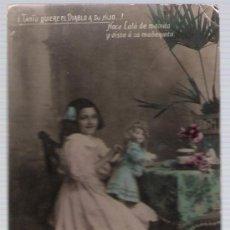 Postales: POSTAL ESPAÑOLA. FRANQUEADO Y FECHADO EN 1910.. Lote 18721200
