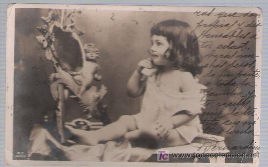 POSTAL INGLESA. FRANQUEADO Y FECHADO EN LIVERPOOL EN 1903. DESTINO SEVILLA. (Postales - Postales Temáticas - Niños)