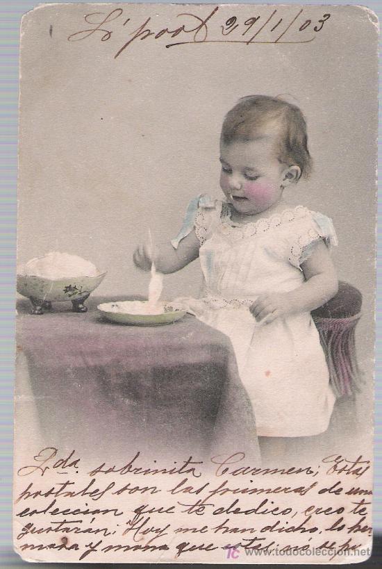 POSTAL FRANCESA. FECHADO EN LIVERPOOL EN 1903. (Postales - Postales Temáticas - Niños)