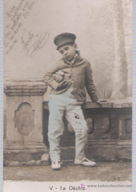 POSTAL FRANCESA. ANTERIOR A 1906. (Postales - Postales Temáticas - Niños)