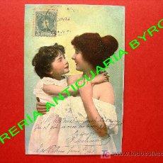 Postales: TARJETA POSTAL ANTIGUA. MADRE CON BEBE.. Lote 18752992