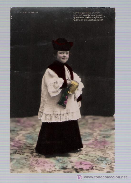 POSTAL ESPAÑOLA. FECHADA EN MADRID EN 1909. (Postales - Postales Temáticas - Niños)