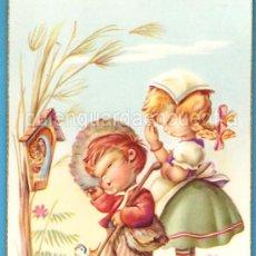 Postales: POSTAL DE LOS AÑOS 60 COLECCIÓN CYZ SERIE 547/B DIBUJOS DE I. VERNET. NIÑOS REZANDO. Lote 19948434