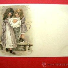 Postales: 6 POSTALES ANTIGUAS ORIGINALES (14 X 9 CM) - NIÑOS. Lote 21564713