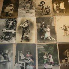 Postales: 12 POSTALES DE NIÑOS PRINCIPIOS DEL SIGLO XX. TODAS ESCRITAS. Lote 26419479