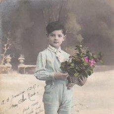 Postales: NIÑO, ES FELICITACIÓN DE NAVIDAD DEL AÑO 1917. Lote 22245273
