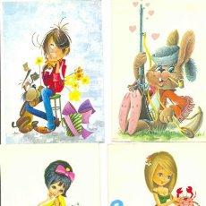 Postales: 9 POSTALES .. DIBUJOS INFANTILES – CHICAS. Lote 22246762