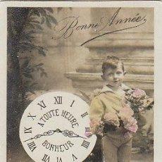 Postales: NIÑO CON UN RELOJ, CIRCULADA EN 1910 (VER DORSO). Lote 22405374