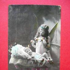 Postales: ANGELITO Y BEBE - AÑO 1916. Lote 23594646