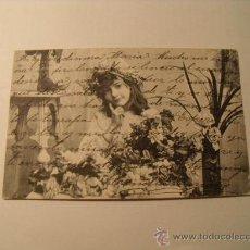 Cartes Postales: POSTAL DE UNA NIÑA CON FLORES. CIRCULADA 1906. POSTAL1062. Lote 24105849