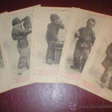 Postales: LOTE 5 POSTALES NIÑO 1903. Lote 27282752