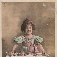 Postales: FELICITACIÓN DE NAVIDAD CON NIÑA Y PERRO (AÑO 1912). Lote 26047488