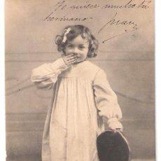 Postales: TARJETA POSTAL INFANTIL. BONJOUR MON MAITRE. P.M.M.. Lote 26349739