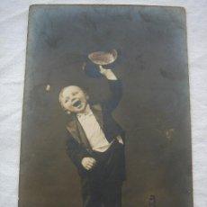 Postales: POSTAL ANTIGUA CON BONITO MOTIVO. ESCRITA AL DORSO Y FECHADA EN 1915. Lote 26418916