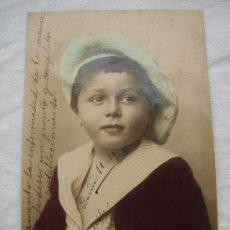 Postales: POSTAL ANTIGUA CON BONITO MOTIVO. CIRCULADA, ESCRITA, CON SELLO 10 CTS ALFONSO XIII Y FECHADA 1907. Lote 26421280