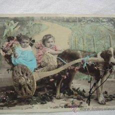 Postales: POSTAL ANTIGUA CON BONITO MOTIVO. ESCRITA AL DORSO Y FECHADA EL 8-JUNIO-1910.. Lote 26421367