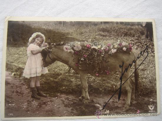 POSTAL ANTIGUA CON BONITO MOTIVO. ESCRITA Y FECHADA AL DORSO EL 10-MARZO-1910. (Postales - Postales Temáticas - Niños)