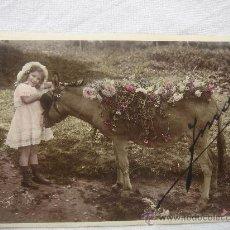 Postales: POSTAL ANTIGUA CON BONITO MOTIVO. ESCRITA Y FECHADA AL DORSO EL 10-MARZO-1910.. Lote 26421421