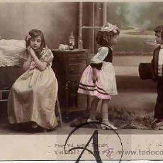 Postales: NIÑOS JUGANDO A PAPAS Y A MAMAS.. Lote 26573655