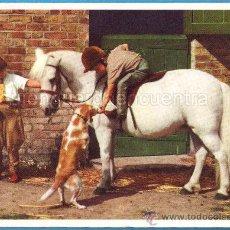 Postales: POSTAL INGLESA, NIÑOS CON EL CABALLO Y EL PERRO, HAPPY COMPANIONS REF. PC 120 CIRCULADA 1958. Lote 28345620