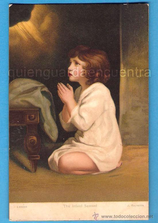 THE INFANT SAMUEL DE SIR JOSHUA REYNOLDS, LONDON POSTAL ESCRITA EN 1915, STENGEL G. M. B. H (Postales - Niños)