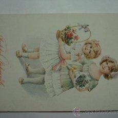 Postales: 171 NIÑOS PRECIOSA POSTAL ORIGINAL AÑOS 1910 OCASION !! A DIARIO POSTALES A BAJO PRECIO. Lote 28538366