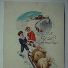 Postales: 201 NAVIDAD NIÑOS PRECIOSA POSTAL ORIGINAL AÑOS 1910 OCASION !! A DIARIO POSTALES A BAJO PRECIO. Lote 28538388