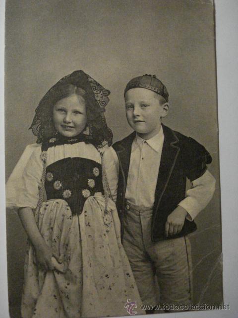 73 SUIZA NIÑO NIÑA NIÑOS POSTAL ORIGINAL AÑOS 1910 - MAS EN MI TIENDA (Postales - Postales Temáticas - Niños)