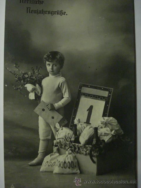 86 NIÑO NIÑA NIÑOS POSTAL ORIGINAL AÑOS 1900 - MAS EN MI TIENDA (Postales - Postales Temáticas - Niños)