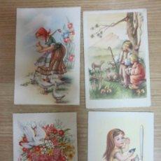 Postales: LOTE DE 4 POSTALES 3 DE NIÑOS,ESCRITAS. Lote 28934841